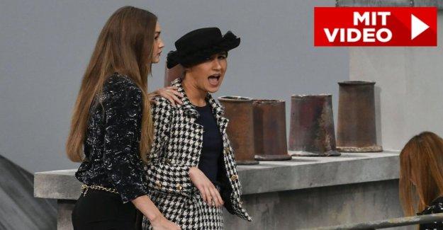 Fashion Week de paris - Gigi Hadid jette Schummel Modèle du Défilé