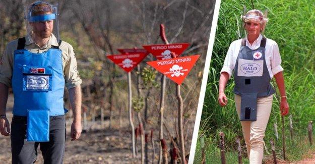 Le prince Harry sur les Traces de Diana en 1997 étape à travers le champ de mines
