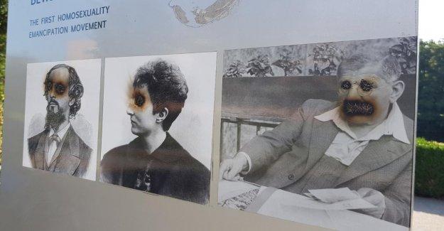 Les actes de vandalisme de la Série à Berlin - Homo-Monument de nouveau fortement endommagé