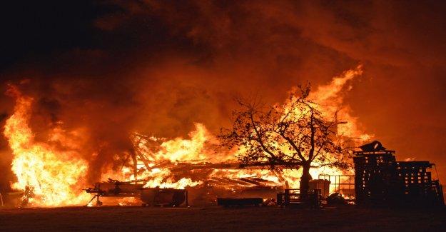 Lucerne Ferme brûle entièrement nieder - Vue