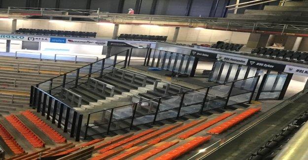 Nouvelle Arène à Fribourg: Cette Cage attend les Gästefans - Vue