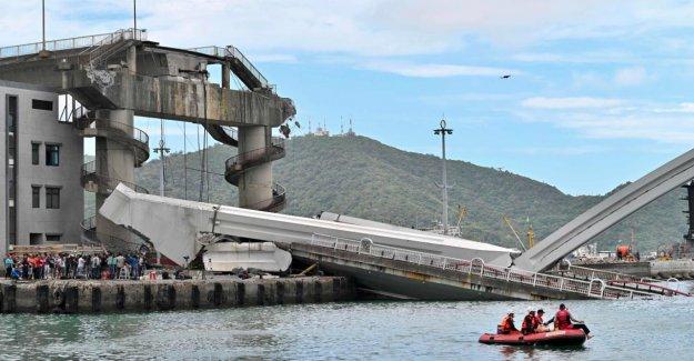 Taiwan: de 140 Mètres de long Pont en Nanfangao s'est effondré