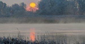 La nuit, à moins douze Degrés, la Bavière est vague de froid avant d'