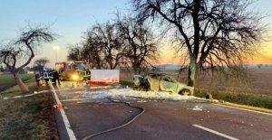 Accident mortel: la Famille de Halle en cas d'Accident brûlé