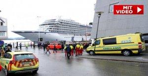 Bateau de croisière Viking Sky: Catastrophe Navire Port à Molde, des Passagers en toute Sécurité