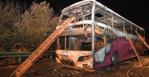 Chine: 26 Personnes meurent dans un Incendie en Autocar