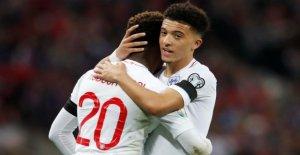 EM-Qualification: l'Angleterre fête après la Victoire contre la république Tchèque, Jadon, Sancho
