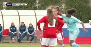 Football: Mise en, Backpfeife, des Larmes, sauvage Bagarre chez les Femmes Match