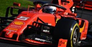 Formule 1: Sebastian Vettel rumpelte après un changement de pneu seulement