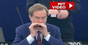 Harmonica au parlement: le Parlement Slovène joue déclaration d'Amour à l'Europe