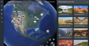Les parcs nationaux dans Google Earth: etats-UNIS-Vacances dans le Navigateur