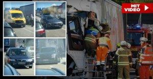 Accident sur lA1 à Lübeck: Autoroute...