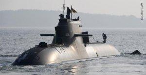 Armée: sous-marin Allemand U-36 après Ruderpanne de nouveau en ordre de marche