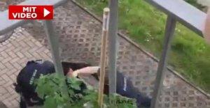 Douai/Bayern: un Policier frappe une Femme (21) avec le Poing dans le Visage!