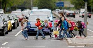 Francfort: la Peur Miquelallee: les élèves du Primaire doivent Détour courir