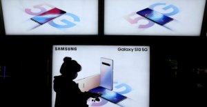 Téléphone de 5G: Samsung vendu le premier Smartphone à partir de Juin