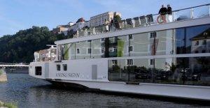 Après le Drame de Budapest: un Accident Navire fraîchement peints à Passau