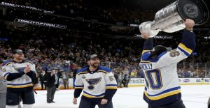 Blues de saint-Louis pour la première fois Vainqueur de la Coupe Stanley - Vue