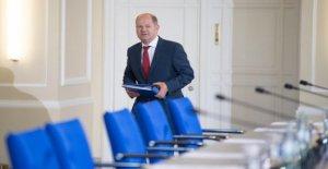Budget: le ministre des Finances, Scholz absence de Milliards de