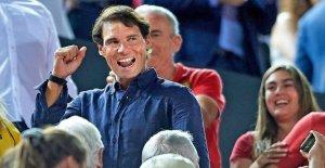 Rafael Nadal fête les Montée de RCD Majorque: Pour venir à Cartes!