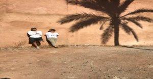 Suisse, au Maroc, donne des Conseils contre la Chaleur - Vue