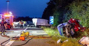 Wiesbaden: Femme craque selon mortel Accident de Secouriste Voitures
