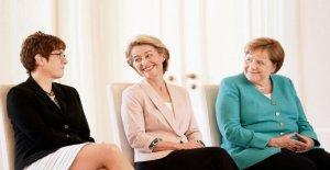 AKK, ursula von der Leyen et Merkel: Pourquoi cette Photo est heureux
