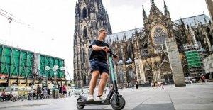 Cologne: Domplatte est l'aire de manœuvre pour les E-Scooter