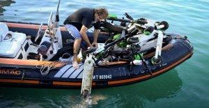 E-Scooter très toxique Batterie Plongeurs poissons Scooter de Mer