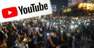 210 Canaux supprimés de Youtube se cache derrière Hong kong, les Manifestants