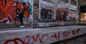 Athènes souffre de Graffiti-Plage: Bâtiments Publics vollgeschmiert