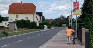 Élections régionales en Saxe: CDU-affiche électorale blessé Radlerin (80)