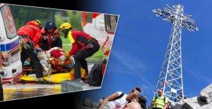 Les tatras (Pologne): la Foudre frappe en Croix, un – 5 Alpinistes morts