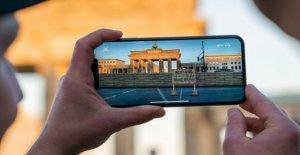 MauAR App: un Nouveau Smartphone, le Programme affiche le Mur de Berlin