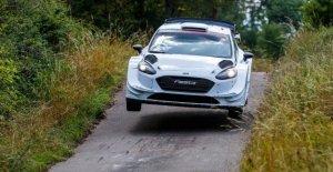 Mercedes-Star Valtteri Bottas Rallye Geheimtest en Allemagne