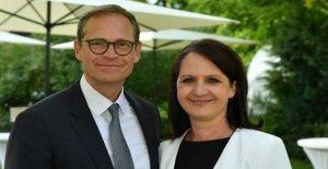 Michael Müller et son Épouse Claudia: Mariage, lors De le Maire de Berlin,