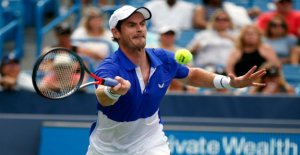 Tennis: Andy Murray joue Simples lors du Tournoi ATP de Winston-Salem