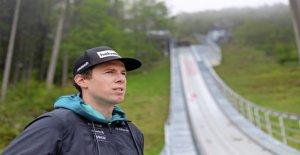 Downhill racer Marc Gisin est son Horreur Chute los - Vue