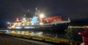 Expédition arctique Mosaïque: Allemand Navire Étoile polaire met dans Trømsø à partir de