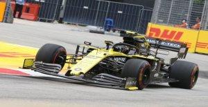 F1 pit stop avec Roger Benoit pour Hülkenberg et Giovinazzi - Vue