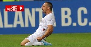 Franck Ribéry: Premier match de la fiorentina contre l'Atalanta Bergame dans la VIDÉO