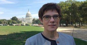 Kramp-Karrenbauer, à Washington, pour la visite de courtoisie. Qu'est-ce qui AKKs week-end?