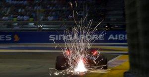 Le Sauna de l'Enfer lors du GP de Singapour permet de Stars de F1 de la transpiration Vue