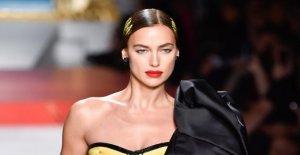 MoschinoShow à Milan: Irina Shayk de leurs plus beaux CORDE
