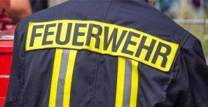 Neunkirchen: Pompiers-Utilisation: invité partie reste dans le monte-plats coincé