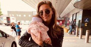Sophia Thomalla avec Bébé: Quel est l'Enfant qui ici se balance