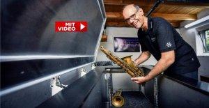 Weeze: Georg Selders gèle les instruments à vent, à -180 Degrés