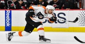 NHL: Les Flyers de Philadelphie, faire de l'exercice à Lausanne - Vue